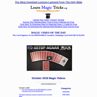 Learn Free Magic Tricks - The Hottest Magic Trick Web site in the World!