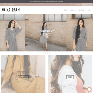 Olive Drew Clothing Co. Beautiful, modest, artfully curated clothing.