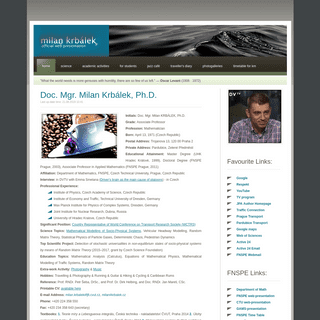 Milan Krbalek (official web-presentation)