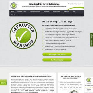 Onlineshop Gütesiegel - von eCommerce Experten empfohlen!
