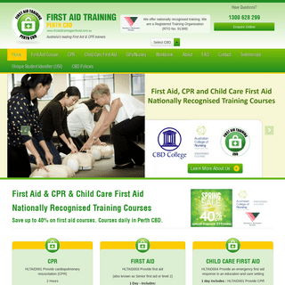 CBD College - First Aid Training Perth - CPR First Aid