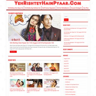 Yeh Rishtey Hain Pyaar Ke Star Plus Serial Watch All Episodes In HD