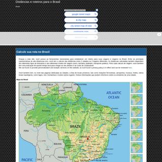 Distâncias e roteiros para o Brasil - abc-distancias.com