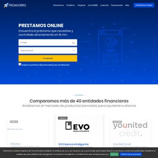 Encuentra YA Préstamos y créditos rápidos - Proahorro.com