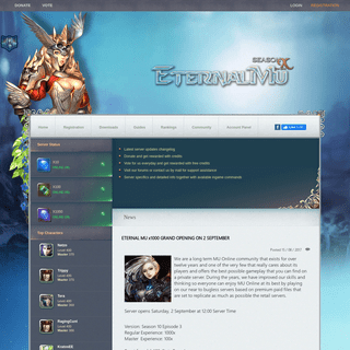 MU Online Private Server - EternalMu Season 10