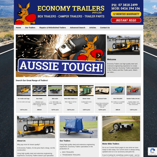 Home - Economy Trailers - Box Trailers - Mowers Trailers - Builders Trailers