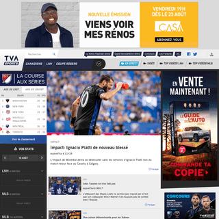 ArchiveBay.com - tvasports.ca - Toutes les Nouvelles du Sport- Infos, Vidéos, Résultats & Statistiques - TVA Sports