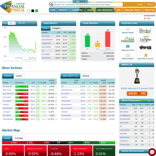 Lankabangla Financial Portal- Live stock data of Dhaka Stock Exchange (DSE), financial statements, research, chart and level 2 d