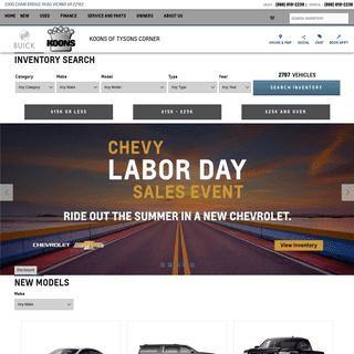 ArchiveBay.com - koonstysonschevybuickgmc.com - Koons of Tysons Corner - Vienna, VA Chevrolet Buick GMC Dealer Serving Chantilly, Fairfax & Northern Virginia Customers
