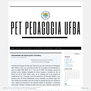 A complete backup of petpedufba.wordpress.com