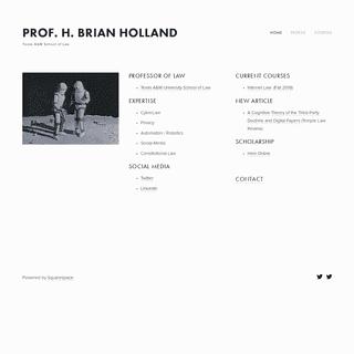 Prof. H. Brian Holland