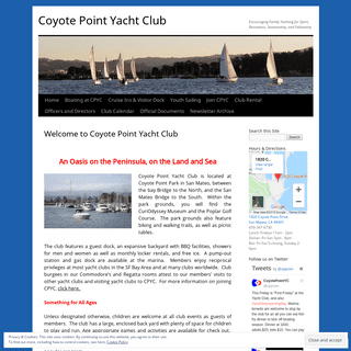 Coyote Point Yacht Club - Encouraging Family Yachting for Sport, Recreation, Seamanship, and Fellowship