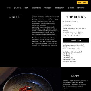 Saké Restaurant & Bar - Award-Winning Contemporary Japanese Cuisine