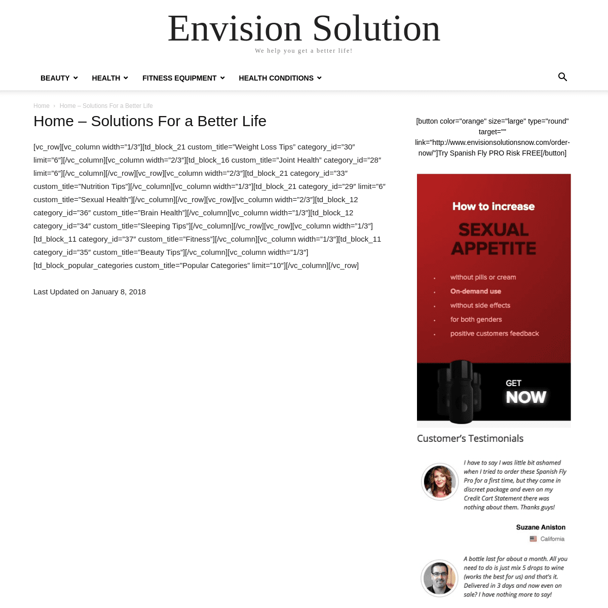 Envision Solutions Now - We find solutions to your health problems!