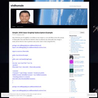 shdhumale - Java Knowledge Sharing Site.