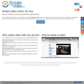 Rotate Video online, for free - RotateMyVideo.net