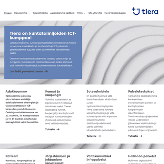 Kuntien Tiera – asiakasomistajien luotettava ICT-kumppani