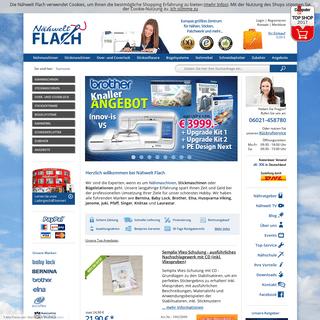 Nähwelt Flach - Das größte Nähzentrum in Europa mit hervorragendem Service!