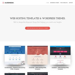 Web Hosting Templates, WordPress Themes - Audemedia