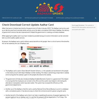 Update Aadhar Card Online- Check Aadhaar Card Correction Status