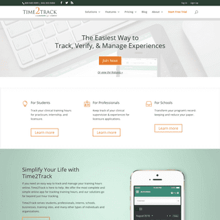 Time2Track - The Easiest Way to Track, Verify, & Manage Experiences