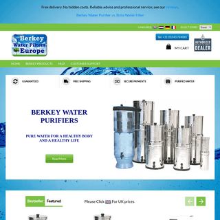 Water Filters and Purifiers - Berkey Water Filters Europe