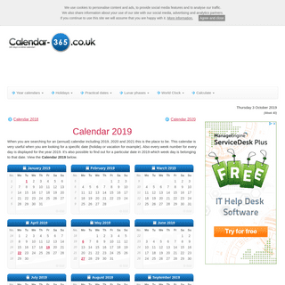 ArchiveBay.com - calendar-365.co.uk - Calendar 2019