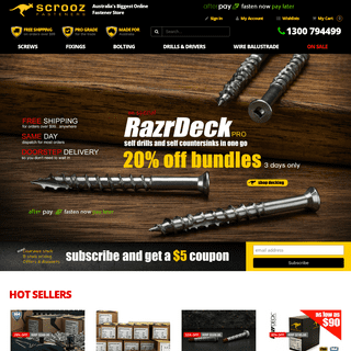 Buy High Performance Screws Bolts Fasteners and Concrete Fixings Online at Great Prices at Scrooz