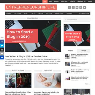 Entrepreneurship Life - Business is a Lifestyle
