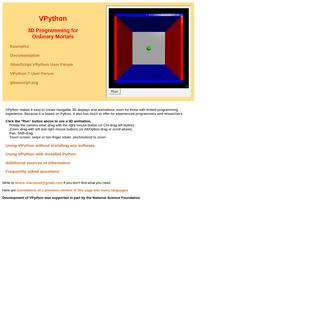 ArchiveBay.com - vpython.org - VPython