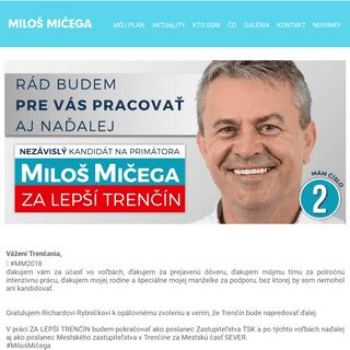 Miloš Mičega ZA LEPŠÍ TRENČÍN