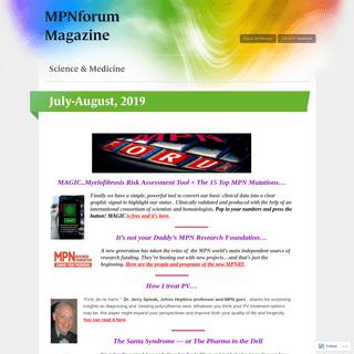 MPNforum Magazine - Science & Medicine