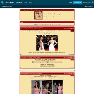 Aishwarya Rai Picture Community — LiveJournal