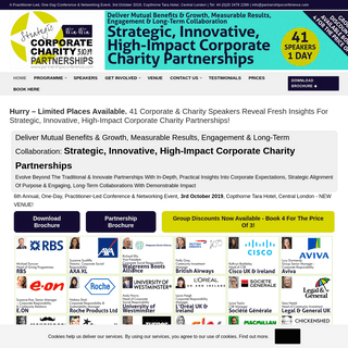 ArchiveBay.com - partnershipsconference.com - The Strategic Win-Win Corporate Charity Partnerships Conference Programme Page