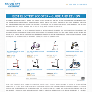 Scooter Guide and Reviews ~ Scooter Inside