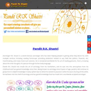 Pandit Rk Shastri - India's Best Astrologer, Vashikaran Specialist