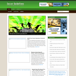 Soccer Guidelines - Find Out Important Soccer Tips and Products