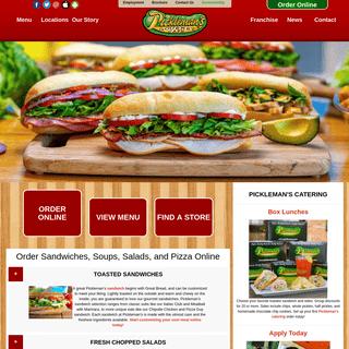 Order Sandwiches Online - Pickleman's