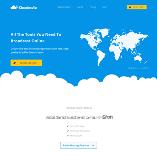 ArchiveBay.com - cloudrad.io - Online Radio Platform for Broadcaster - Services CloudRadio