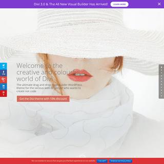 Divi Pagebuilder theme by Elegant Themes