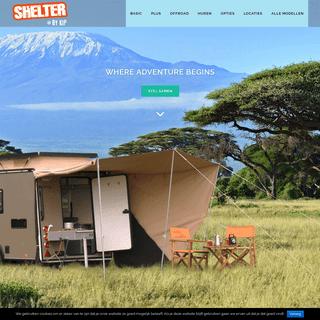 Kip Shelter- Tent kamperen in een kleine kampeerwagen