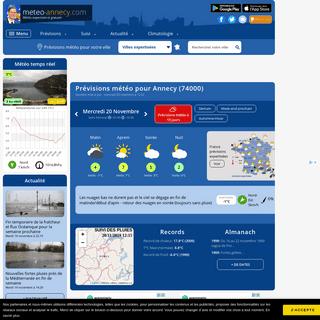 Météo Annecy (74000 - FR) - 1er site météo pour Annecy et sa région - previsions gratuites à 15 jours