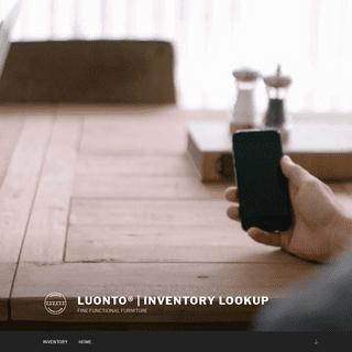 Luonto® - Inventory Lookup – FINEFUNCTIONALFURNITURE