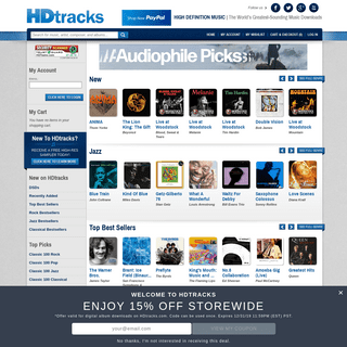 Homepage - HDtracks - The World's Greatest-Sounding Music Downloads