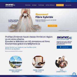 Internet haute-vitesse illimité, télévision et téléphonie - Skynet Telecom
