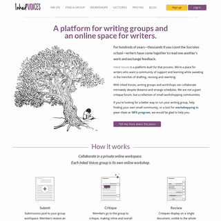 Inked Voices - Where writing groups collaborate online. Connecting writers