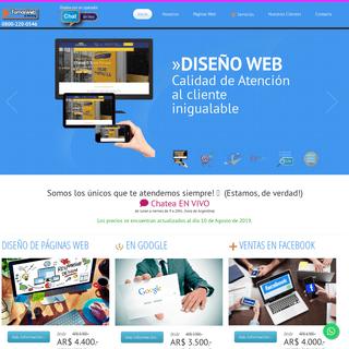 🇦🇷 Diseño de Páginas Web - Precios actualizados - Tomas Web & Hosting™ ❤️