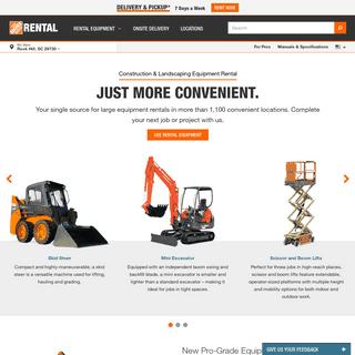 Large Equipment Rental - Rent Construction Equipment - The Home Depot Rental - English Content