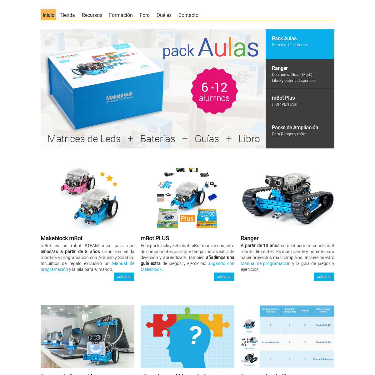 ArchiveBay.com - makeblock.es - Venta de productos Makeblock y Compatibles en España - Robótica Educativa Open Source