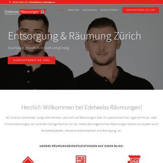 Entsorgung & Räumung in Zürich - edelweiss-räumung.ch